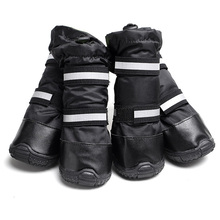 for medium large dog Collie boots leather non-slip waterproof Winter Outdoor long Boots Big Dog Shoes