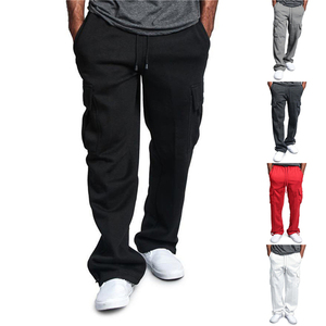 Fashion Overalls Pants Men Sweatpants Loose Baggy Joggers Track Pants Casual Pocket Sport Trousers Male Clothes