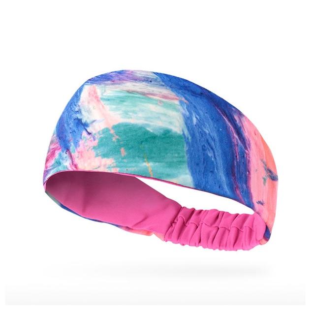 Breathable Absorbent Sports Headband Lycra Sweat Perspiration Basketball Fitness Running Sweat Head Band Belt 4