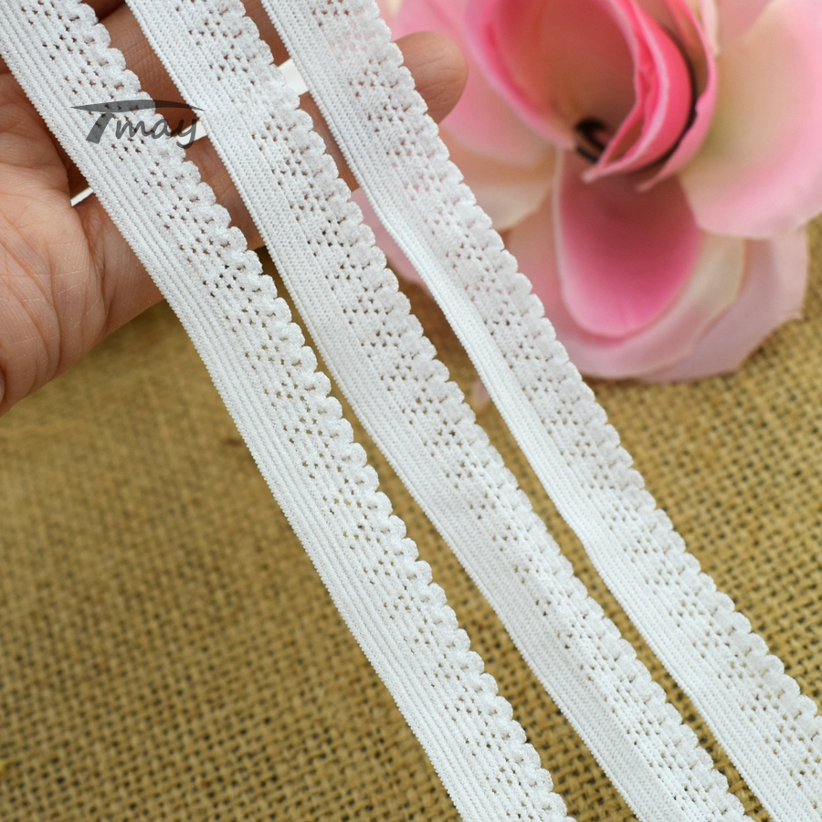 #304 Soft Quality 8 Yards Elastic Bands Trim Underwear Bra Stretch Lace Fabric DIY Sewing Craft Garment Ribbon Small Tape