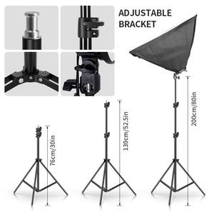 Image 5 - Photo Studio 8 LED 20W Softbox Kit Photographic Lighting Kit Camera & Photo Accessories 2 Light Stand 2 Softbox for Camera Photo