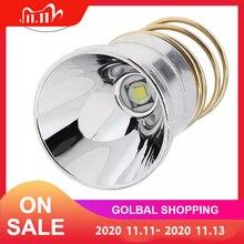 3.6v 4.2v led懐中電灯電球交換アルミ合金反射器ポータブル照明アクセサリースーパーエネルギー節約電球