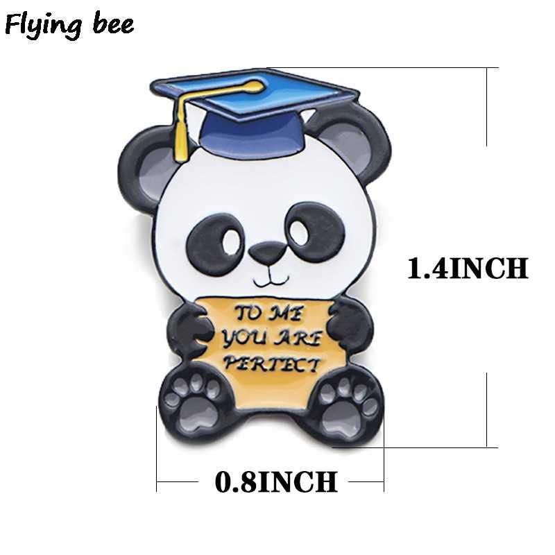 Flyingbee To me вы идеальная булавка панда Милая брошь выпускная Подарочная одежда булавка металлические значки enmel подарок для пары X0455
