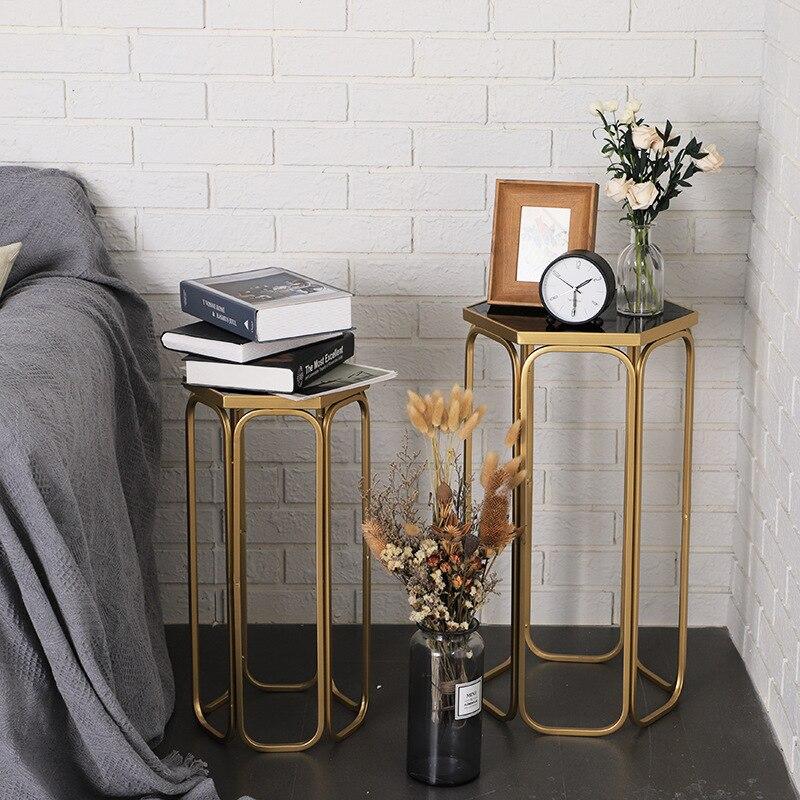 Chute au sol couloir pergola marchandise étagère le salon canapé table d'appoint maison basse fer art présentoir table basse