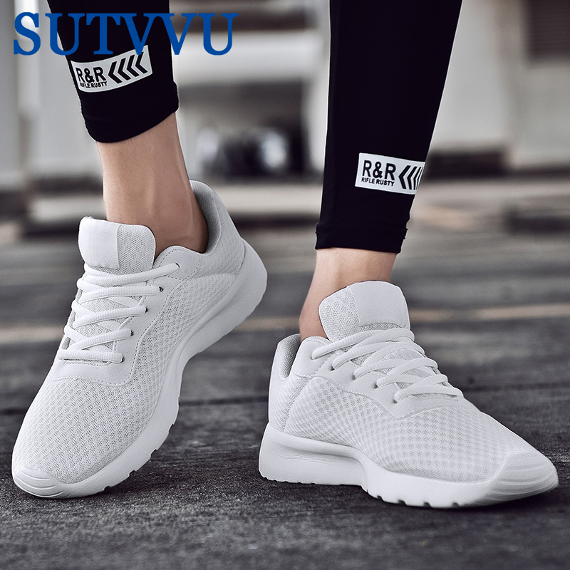 Spring New Men Casual Shoes Lace Up Lightweight Comfortable Breathable Walking Sneakers Tenis Feminino Zapatos Big Size 35-47