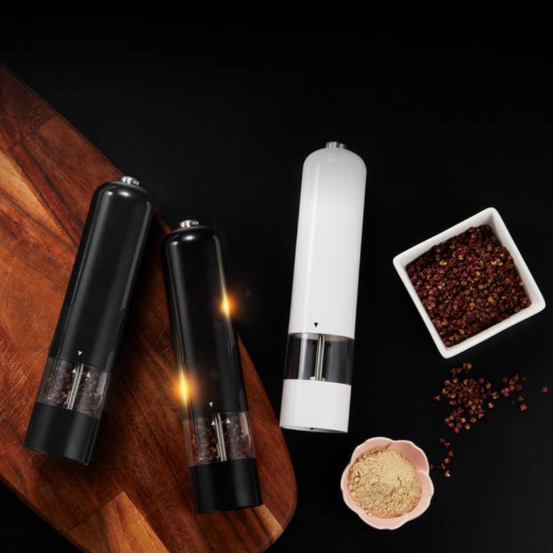 Moulins à poivre à piles Leeseph, moulins à sel de mer électriques à un bouton, Gadgets d'outils de cuisine