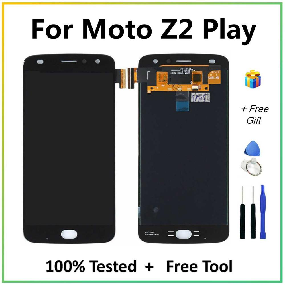 For Motorola Z2 Play LCD Display + Touch Screen Digitizer Assembly With Free Tools Tested For Moto Z2Play XT1710-01 LCDs Screen