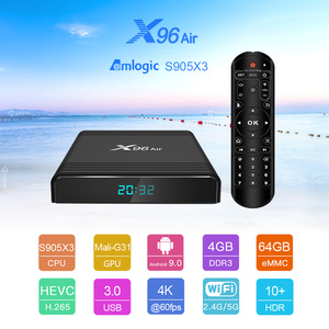 Image 2 - X96 Air Android TV Box Android 9,0 Amlogic S905X3 Smart TV Box 4K Android Box 4GB 64GB x96Air Quad Core 2,4G & 5G Wifi BT 4,1 H.265