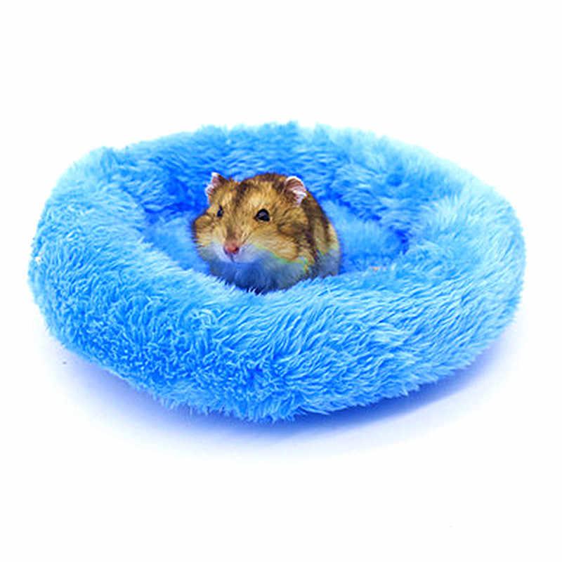 Hewan Peliharaan Pasokan Musim Dingin Lembut Bulu Guinea Pig Bed Kandang Hewan Kecil Mini Mat Hamster Tikus Tidur Tidur Hamster Tidur Sofa landak