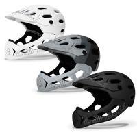 Neue Hohe Qualität Sport Radfahren Helm Mit Abnehmbaren Krempe Und Kinn Schutzhülle Pad Für Cb 49 ALLCROSS Voll Geformt sport Helm-in Fahrradhelm aus Sport und Unterhaltung bei