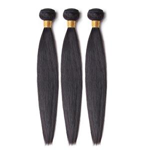 Image 3 - Missロラ毛非レミーストレートマレーシア毛織りバンドル100% 人毛3バンドル4*4閉鎖自然な色8 26インチ