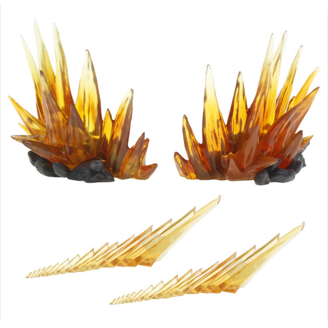 Energia Aura efekt dekoracja dla Gundam figurki postaci akcesoria do modeli żółty