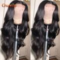 Oxeely Synthetische Lace Front Perücke #1B/30 Ombre Welliges Haar Lace Front Perücke Braun Langen Körper Wellen Perücke hitze Beständig für Schwarze Frauen-in Synthetische Lace-Perücken aus Haarverlängerung und Perücken bei