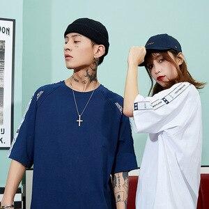 Image 3 - Bông Tai Kẹp Áo Nam Hip Hop Dạo Phố Áo Nữ Tay In Hình Mùa Hè 2020 Áo Thun Nữ Tay Ngắn In Nhân Vật Trung Quốc Cao Cấp TEE Cotton