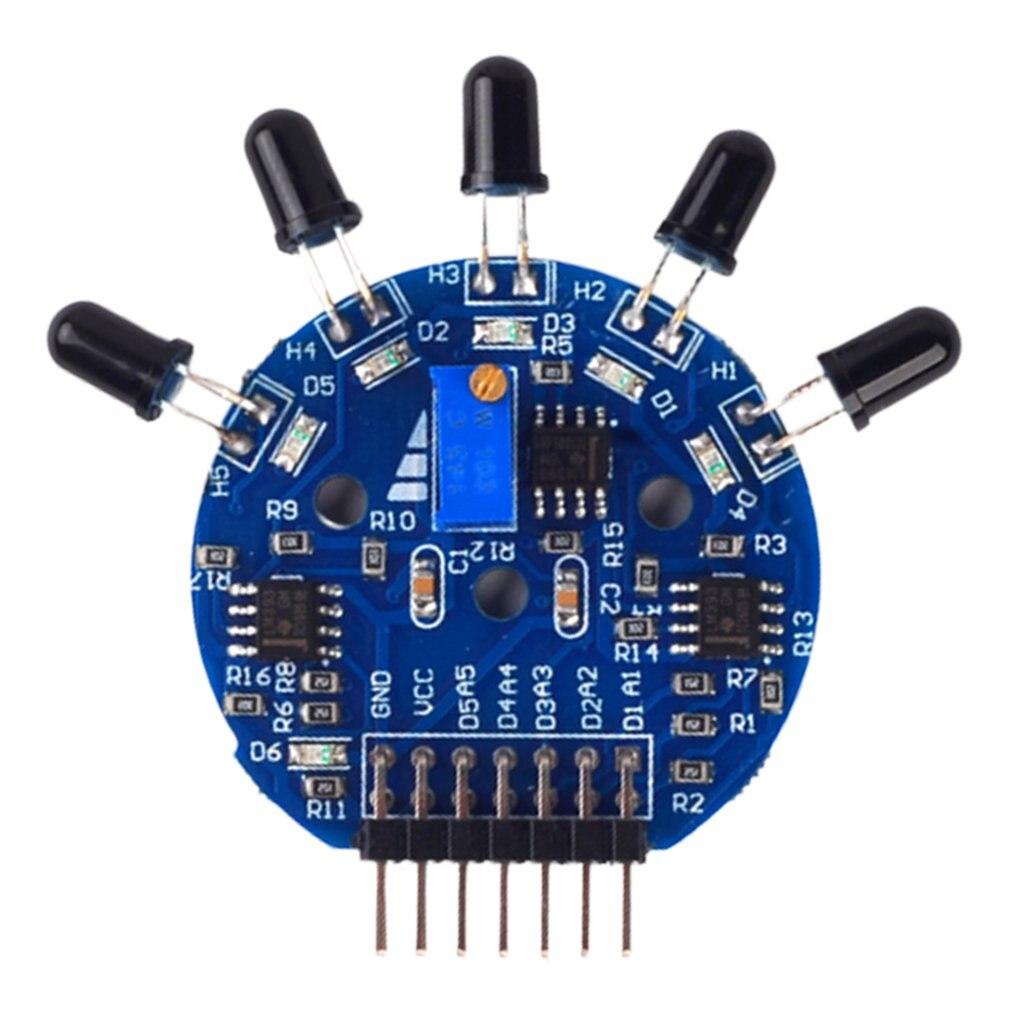Five-Way Flame Sensor Module Analog Digital Dual Output Fire Extinguishing Robot Five Channel Flame Sensor Design