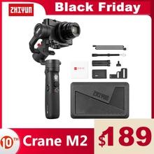 ZHIYUN Crane M2  공식 크레인  3 축 Gimbals 미러리스 컴팩트 액션 카메라 핸드 헬드 안정기 전화 스마트 폰 아이폰 11
