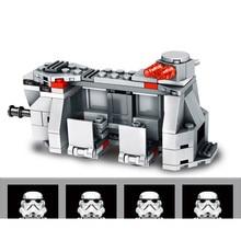 Construcción de una Mini figura de soldado de asalto Imperial, transporte, avión, sombra, soldado, bicicleta, bloques, minifigura, juguete