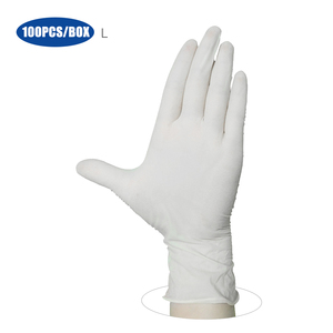 Image 1 - 100PCS/Box Disposable PVC Gloves Powder Free Gloves for Home Restaurant Kitchen Catering Food Process Examination Use