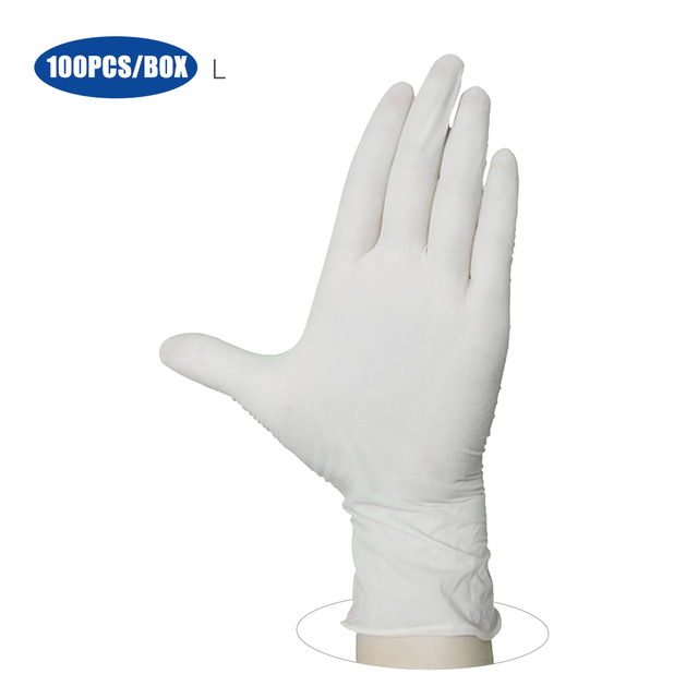100PCS/Box Disposable PVC Gloves Powder Free Gloves for Home Restaurant Kitchen Catering Food Process Examination Use