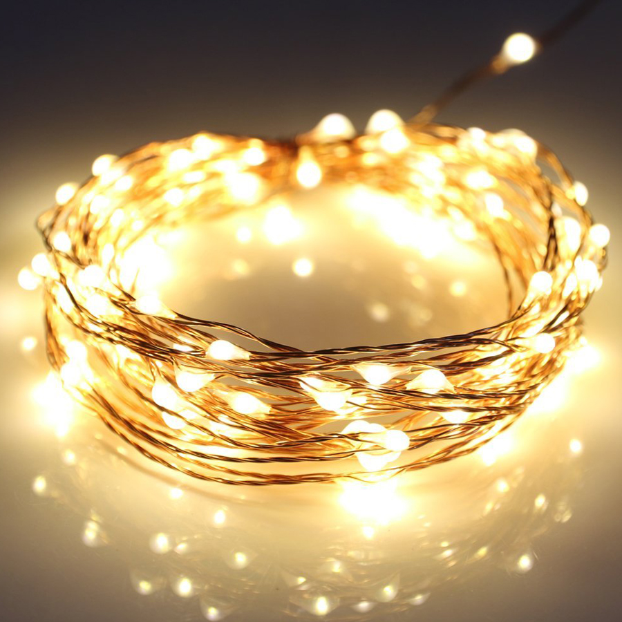 5M 10M LED String Lights Copper Wire Fairy Lights Garland Xmas Tree Christmas Outdoor Wedding Party Home Decor USB Lighting