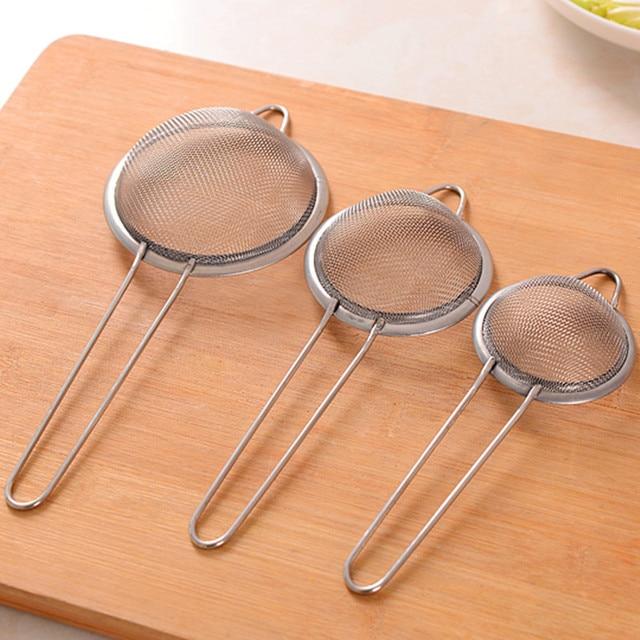 Stainless steel  Wire Fine Mesh Oil Strainer Flour Colander Sieve Sifter Pastry Baking Tools kitchen accessories 2