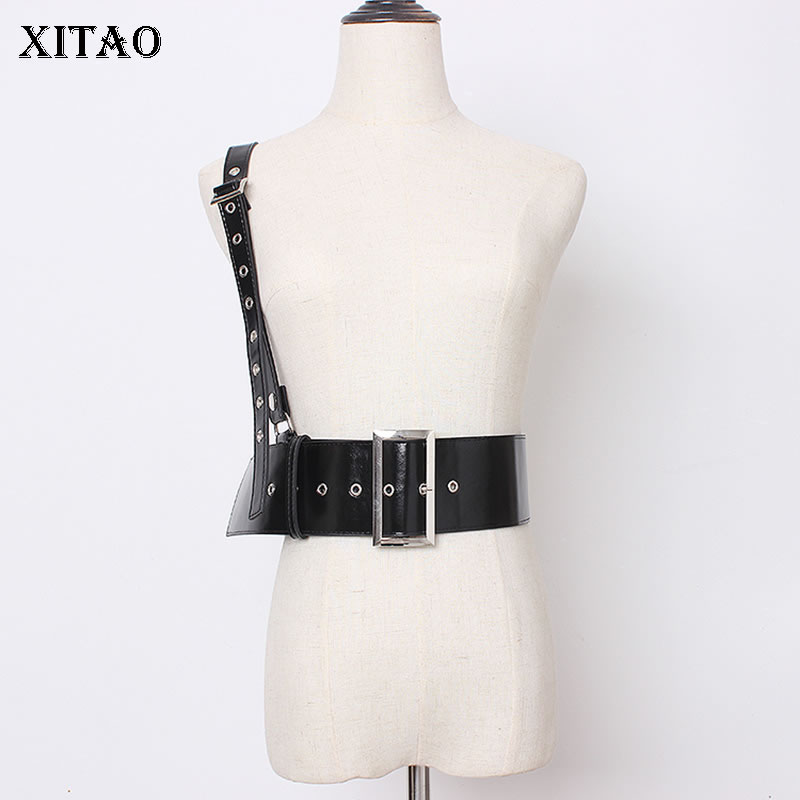 XITAO Vintage Black Cummerbunds Shoulder Strap Fashion Elegant 2019 Autumn Small Fresh Casual Style Minority Cummerbunds XJ1992