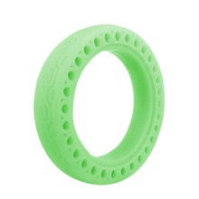 Honeycomb Rubber Solid Tire 8.5 Inch Fluorescent Tire Tubeless Luminous Solid Tyre for Xiaomi M365 Electric Scooter(China)