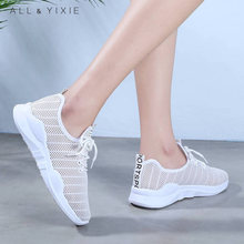 Women Shoes 2019 New Fashion Mesh Breathable White Sneakers Womens Platform Female Sports Zapatos De Mujer