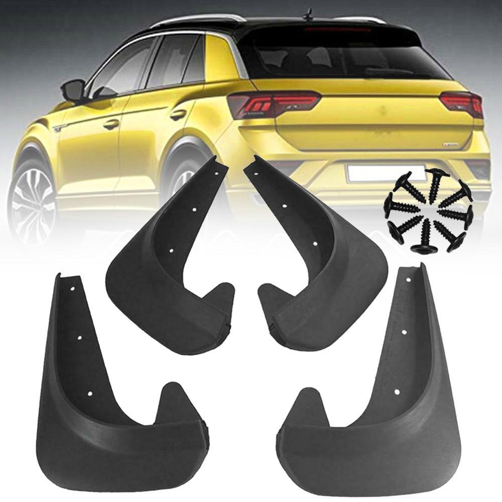 4x ユニバーサル Mudflaps 泥フラップフラップスプラッシュガードマッドガード車の自動車バン SUV トラックセダンホイールフェンダーフロントリア