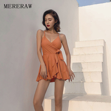 One-piece swimsuit women's fresh skirt style was thin thin belly covering small chest gathered bikini hot spring swimsuit staer 2017 body conservative students three sets of small chest gathered sexy skirt type thin thin belly bikini swimsuit