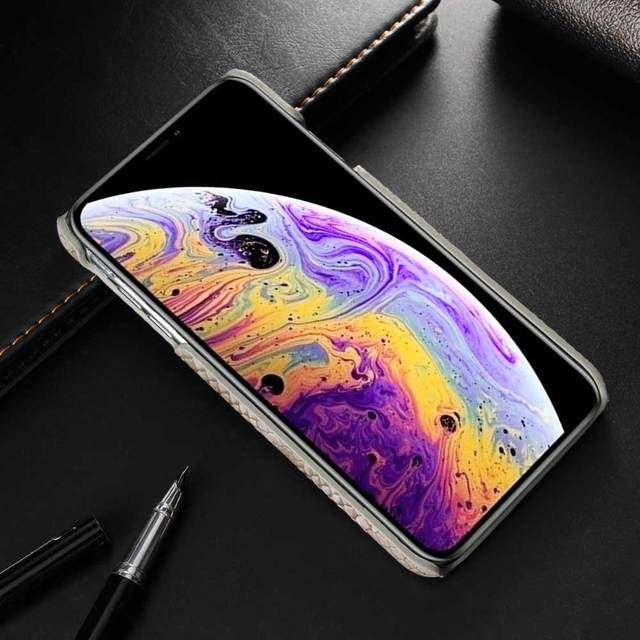 Snake Skin Leather Phone Case for iphone XS Max X 8 7 6 6s Hard PU Leather Back Cover for iphone XR X XS 7 8 6 6s Plus Case