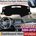 Dla Hyundai Sonata śladu środowiskowego NF YF LF 1998 ~ 2019 Anti-slipmata pokrywa deski rozdzielczej Pad parasolka Dashmat dywan akcesoria samochodowe dywan 2010 2016