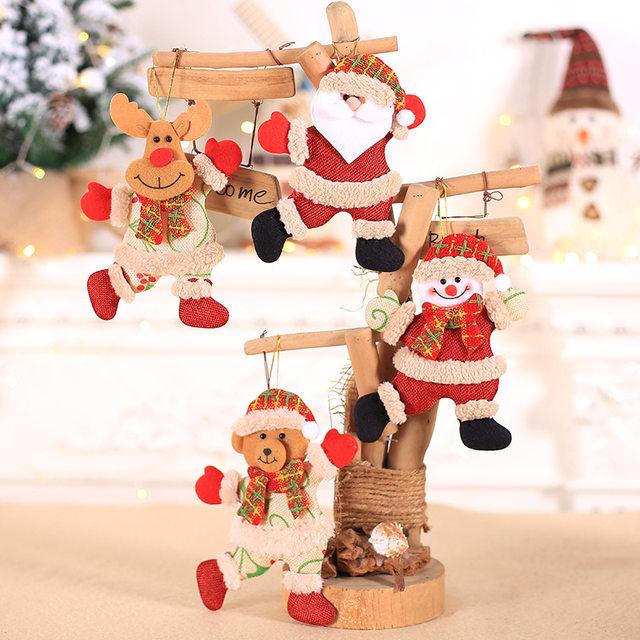 New Year 2020 Cute Santa Claus/Snowman/Angel Christmas Dolls Noel Christmas Tree Decoration for Home Xmas Navidad 2019 Kids Gift 13