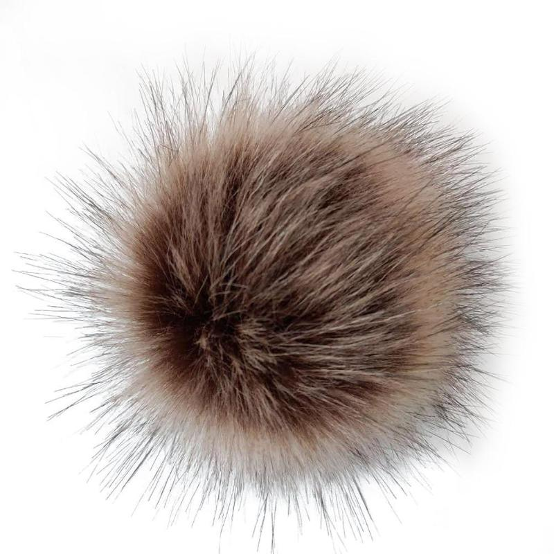 12pcs Soft Pompon Pendant Artificial Fox Fur Animal Skin Hair Ball Mommy DIY Hat Shoes Doll Accessories For Child