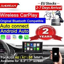 Беспроводной CarPlay для audi A6 a5 c7/A7/S6 c7 rs6 carplay для audi CarPlay OEM обновление экрана MMI система Мультимедиа AirPlay