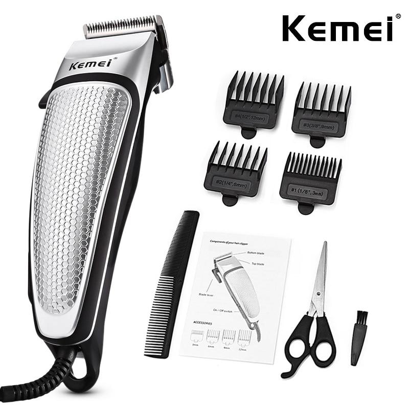 Casa aparador de cabelo alta qualidade elétrica clipper com 4 pentes limite forte potência máquina corte cabelo diy barbeiro ferramenta 45