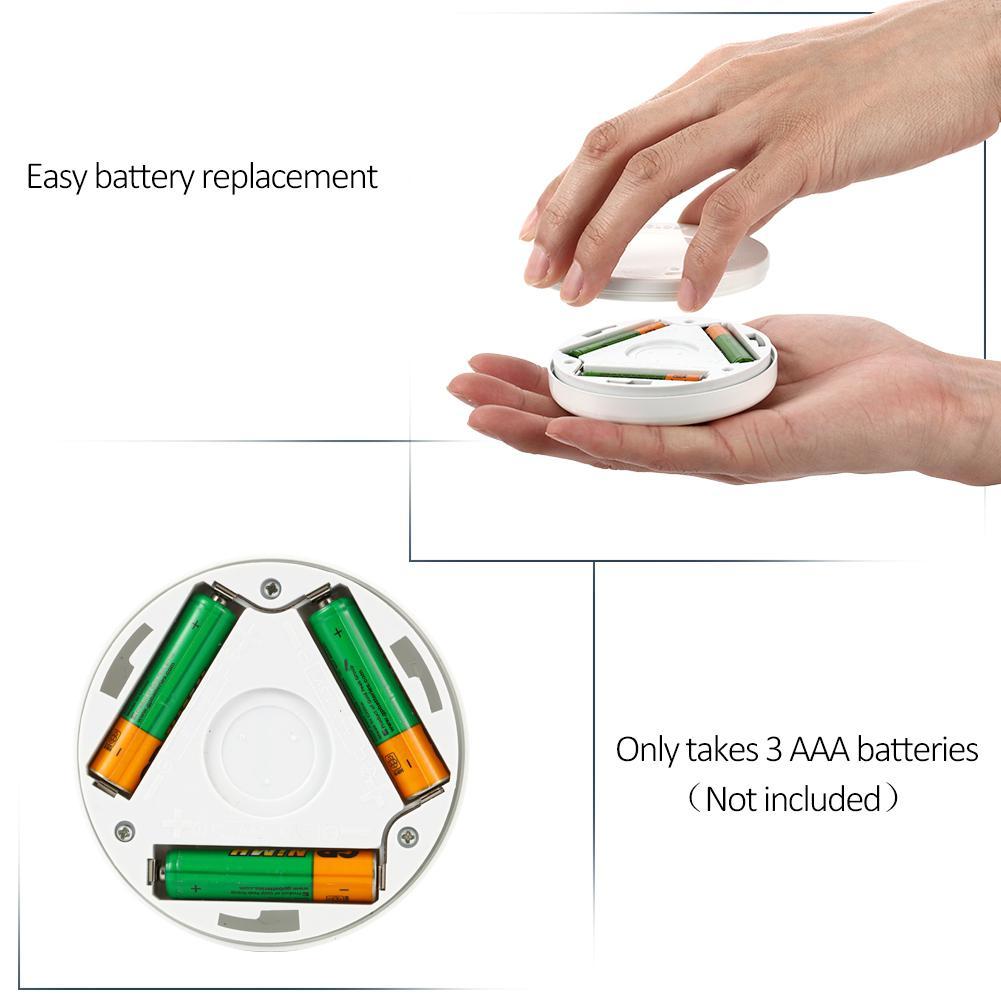 Ling-star Motion-sensing Battery Powered LED Stick-on Nightlight White Color Lamp For Children Kids Baby Bedroom Nursery Gifts
