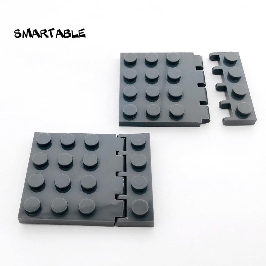 Suporte de telhado de veículo moc, dobradiça inteligente, 1x4 + placa de dobradiça 4x4, bloco de construção, peças moc, tijolo brinquedo compatível 4315 + 4213 20 pçs/lote