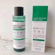 Somebymi AHA BHA PHA 30 Days Miracle Facial Toner Serum Blackheads Remove Acne Treatment Skin Exfoliating Desalt Acne/Spot 150ml
