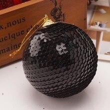 8 см рождественские шары Стразы блестящие шары шар орнамент с рождественской елкой украшение шар елочные игрушки bolas navidad