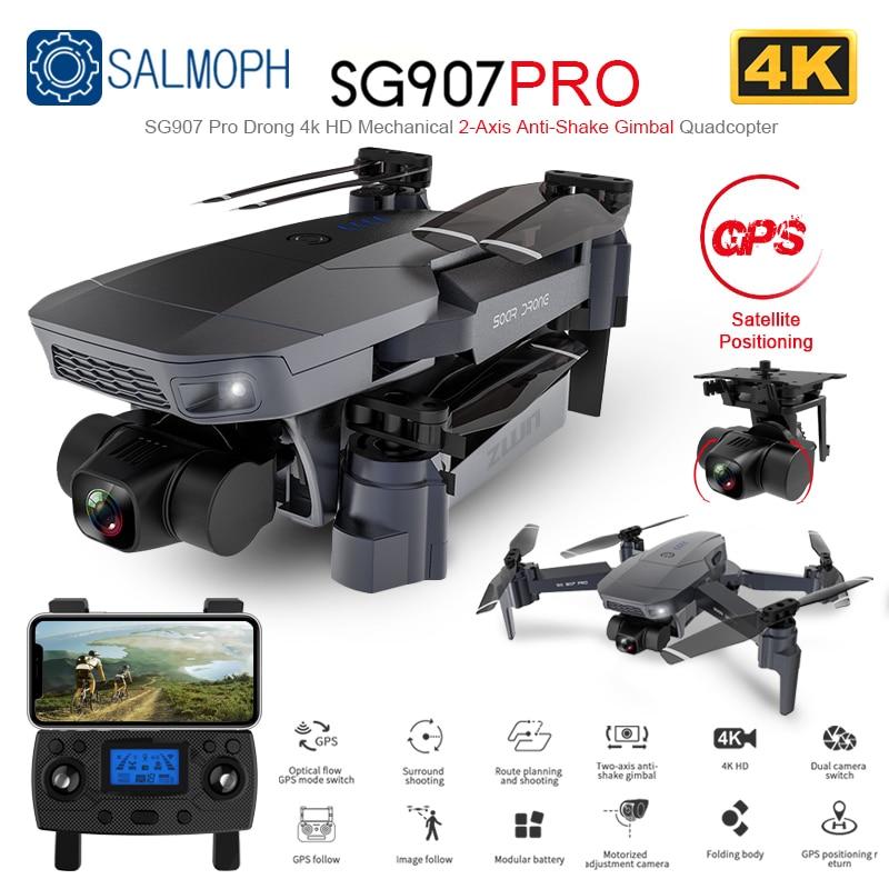 Zwn sg907 pro/sg901 gps zangão com 2 eixos cardan câmera 4k hd 5g wifi grande angular fpv fluxo óptico rc quadcopter dron vs sg906