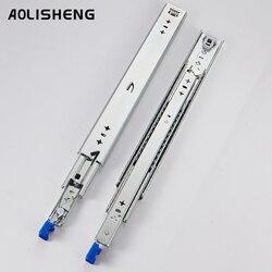 Aolisheng three-fold fully extended heavy-duty drawer slide with drawer lock for drawer equipment