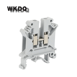 10 шт. UK-5N 2 проводника UK5N универсальное винтовое соединение din-рейка клеммный блок соединитель UK5 Винтовые клеммные блоки