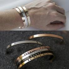 Vnox personalizuj bransoletka dla kobiet mężczyzn ze stali nierdzewnej proste bransoletki mankietów Unisex klasyczna biżuteria niestandardowy prezent BFF