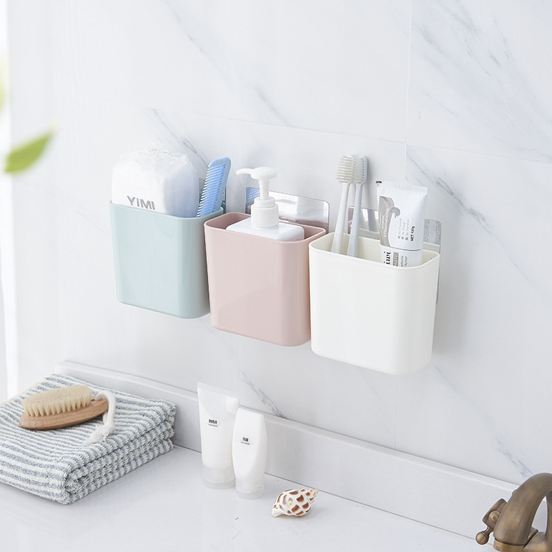 Toothbrush Shelf Toilet Bathroom Suction Wall Hanging Comb Toothpaste Storage Toothbrush Holder Bathroom Accessories