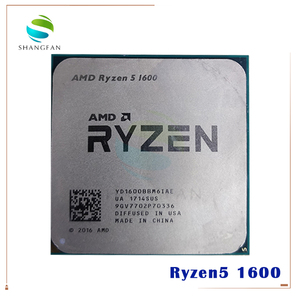Image 1 - AMD Ryzen 5 1600 R5 1600 R5 برو 1600 3.2 GHz ستة النواة اثني عشر موضوع 65W معالج وحدة المعالجة المركزية YD1600BBM6IAE YD160BBBM6IAE المقبس AM4