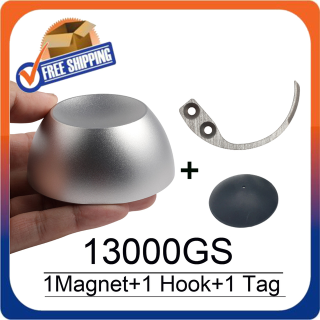 Golf Magnetic Detacher 13000GS Universal Tag Remover Magnet+1 Key Detacher Hook Detacher+1 Golf Tag Alarms Free Shipping