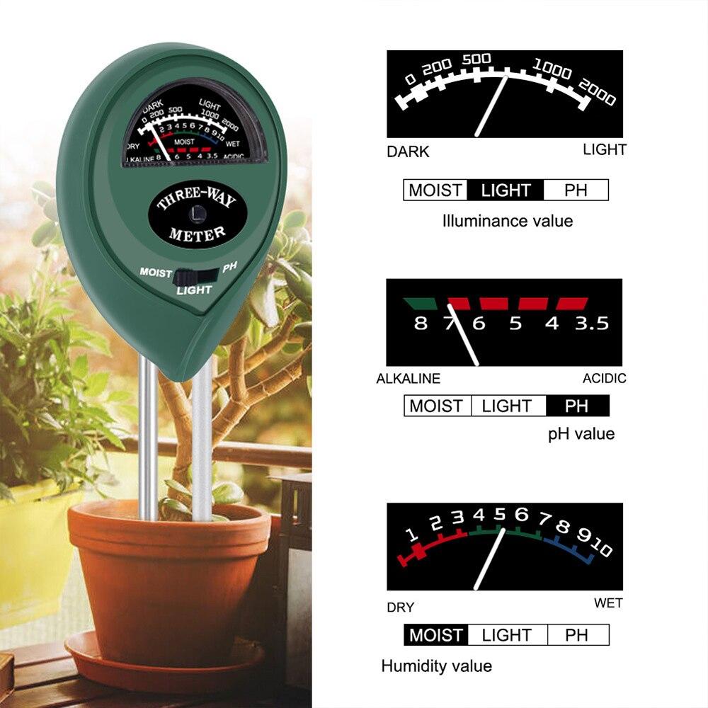 Цифровой измеритель влажности почвы, рН метр для измерения кислотности и влажности, садовые растения, цветы, Влажный Тестер, садовый инструмент|Измерители pH|   | АлиЭкспресс