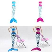 MYPANDA 1Set Puppe Meerjungfrau Schwanz Kleid Baby Spielzeug Handgemachte Puppen Party Kleid Kleid Rock Mode Kleidung Für Kleine Geschenke