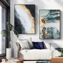 Abstract Marbling Art Wall Painting Gemstone Cross Section Canvas wall For Living Room Decor Unframed